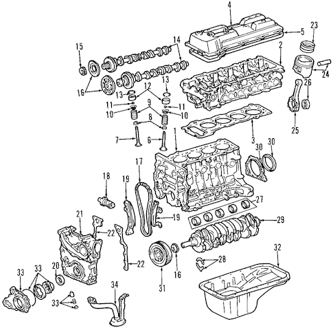 Genuine OEM MOUNTS Parts for 1996 Toyota Tacoma Base