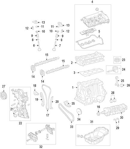 Genuine OEM Mazda Engine Parts