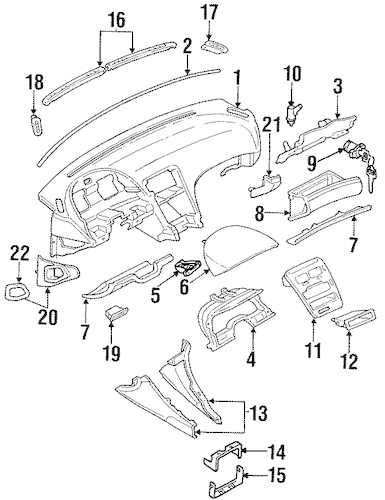 CLUSTER VISOR for 1990 Nissan 300ZX|68211-30P00