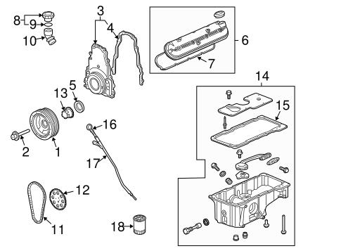 ENGINE PARTS for 2006 Chevrolet Trailblazer