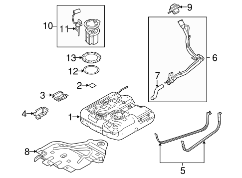 FUEL SYSTEM COMPONENTS for 2010 Ford Transit Connect