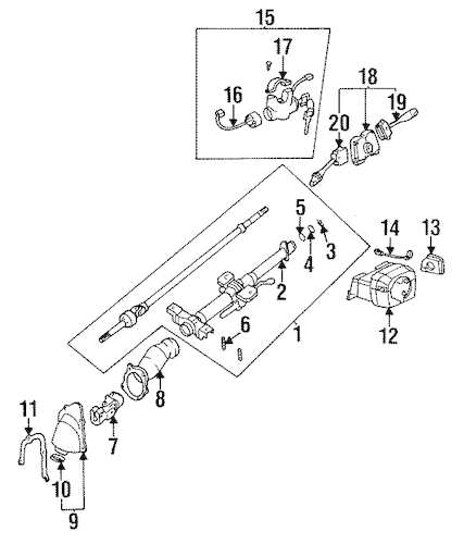 Service manual [Remove 1999 Nissan Maxima Steering Column