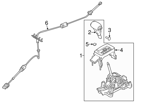 Service manual [2006 Ford Fusion Transmission Shift Cable