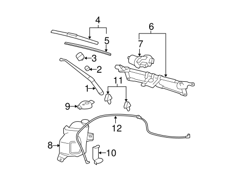WIPER & WASHER COMPONENTS for 2008 Chevrolet HHR