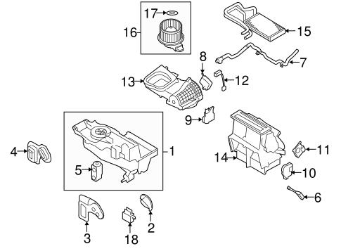 Ford Explorer Flex AC Heat Air Temperature Blend Door