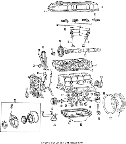 1987 Pickup Repair Manual / Exploded Parts Diagrams