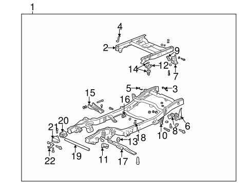 FRAME & COMPONENTS for 2006 GMC Sierra 1500