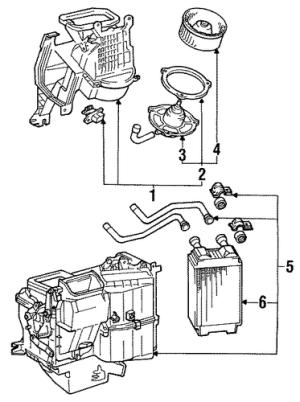 BLOWER MOTOR & FAN for 1988 Toyota Pickup