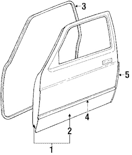 DOOR & COMPONENTS for 1988 Chevrolet S10 (Base)