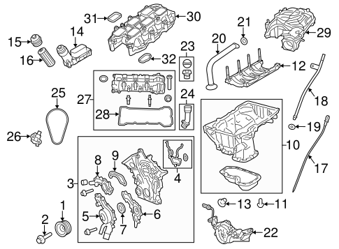 ENGINE PARTS for 2014 Jeep Wrangler