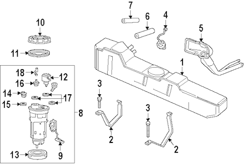 FUEL SYSTEM COMPONENTS for 1994 Dodge Ram 2500