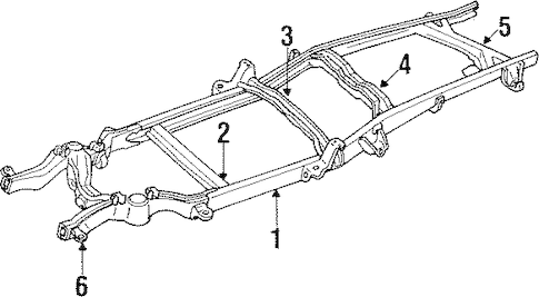 FRAME & COMPONENTS for 1990 GMC K2500 Pickup