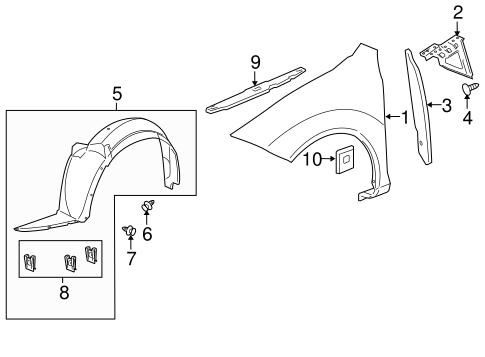 FENDER & COMPONENTS for 2007 Pontiac G5 (Base)