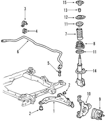 SUSPENSION COMPONENTS for 2004 Chevrolet Impala (Base)