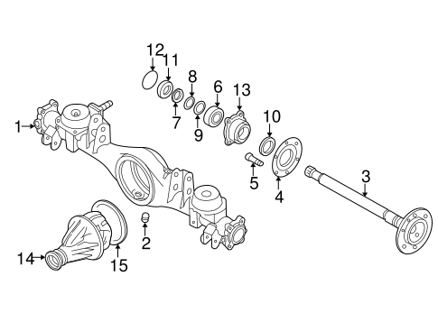 AXLE & DIFFERENTIAL for 2001 Nissan Pathfinder