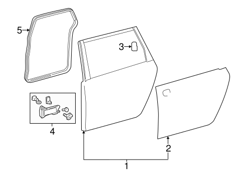 Genuine OEM DOOR & COMPONENTS Parts for 2006 Toyota Sienna