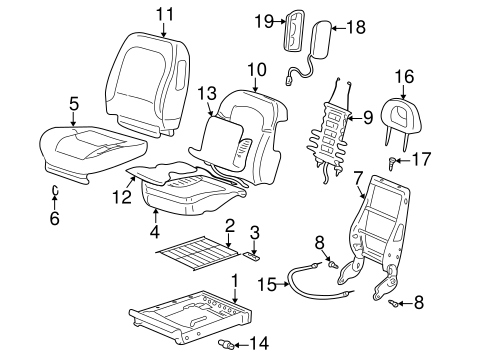 FRONT SEAT COMPONENTS Parts for 2006 Buick Rendezvous