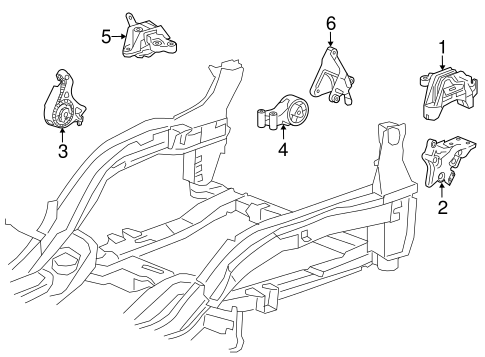 ENGINE & TRANS MOUNTING for 2014 Chevrolet Cruze