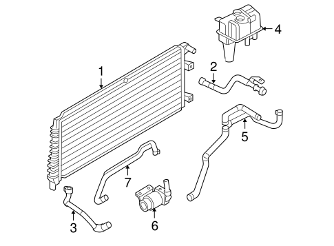 COOLING SYSTEM for 2005 Ford Escape