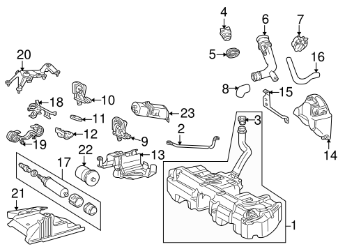 FUEL SYSTEM COMPONENTS for 1996 Mercedes-Benz C220