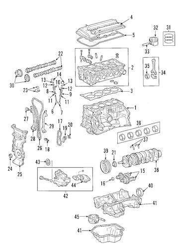 Genuine OEM MOUNTS Parts for 2004 Toyota RAV4 Base