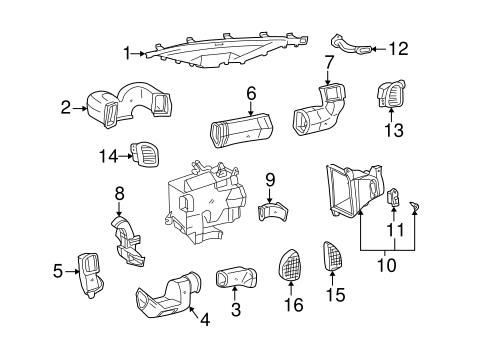 Genuine OEM BLOWER MOTOR & FAN Parts for 2002 Toyota