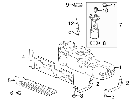 03 Silverado Fuel Tank Pressure Sensor, 03, Free Engine