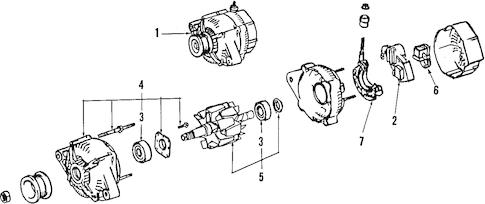 Genuine OEM ALTERNATOR Parts for 2003 Toyota Camry LE