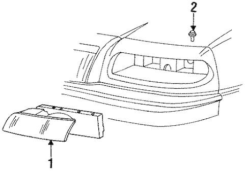 HEADLAMP COMPONENTS for 1995 Chrysler LeBaron