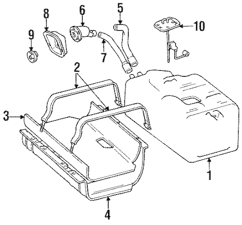 FUEL SYSTEM COMPONENTS for 1992 Jeep Wrangler