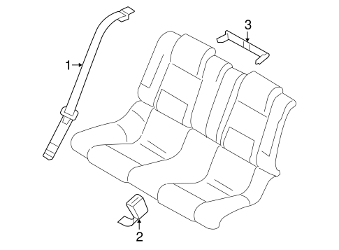 REAR SEAT BELTS for 2006 Ford Mustang