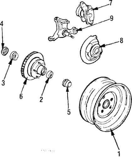 WHEELS Parts for 1986 Pontiac Parisienne