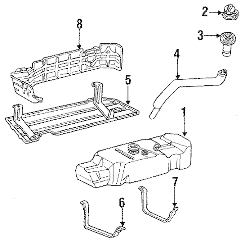FUEL SYSTEM COMPONENTS for 1995 Ford F-250