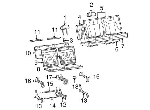 REAR SEAT COMPONENTS for 2002 Chevrolet Trailblazer