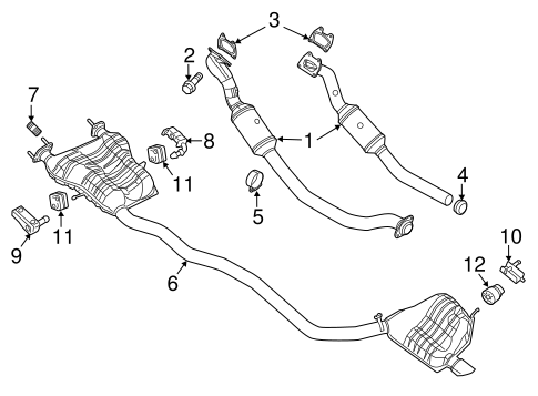 EXHAUST COMPONENTS for 2011 Jeep Grand Cherokee