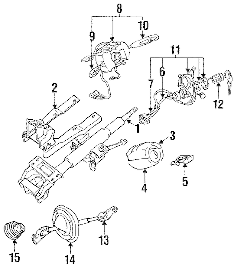 STEERING COLUMN ASSEMBLY for 1996 Dodge Stealth