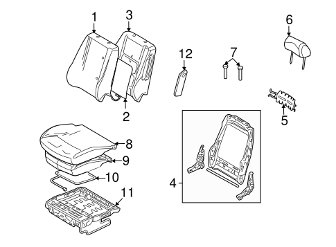FRONT SEAT COMPONENTS for 2010 Ford Fusion
