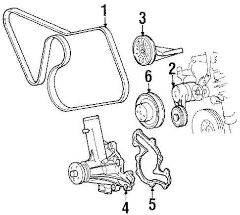 BELTS & PULLEYS for 1997 Ford Mustang