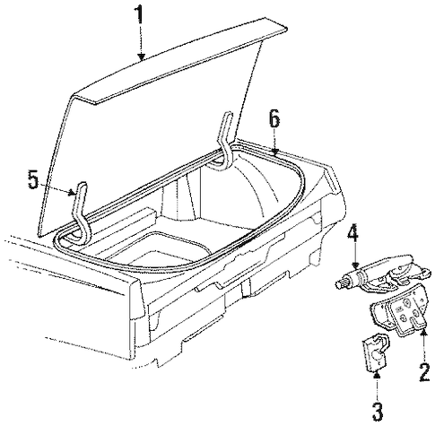 TRUNK for 1988 Oldsmobile Delta 88 (Royale Brougham)