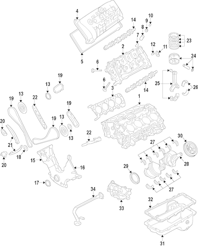 ENGINE for 2014 Ford Mustang