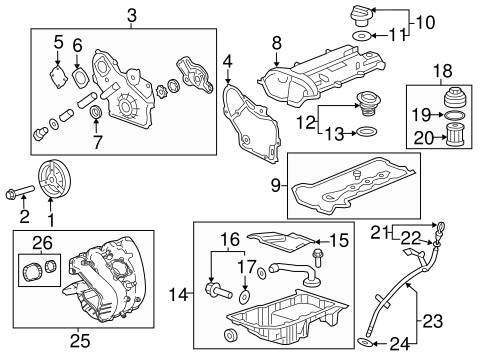 ENGINE PARTS for 2014 Chevrolet Malibu