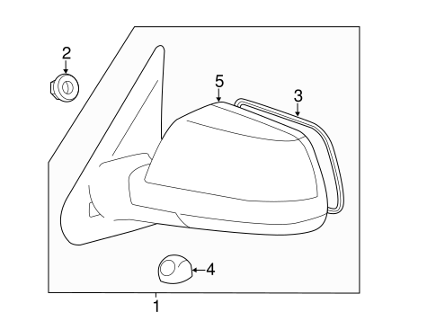 Genuine OEM OUTSIDE MIRRORS Parts for 2011 Toyota Tundra