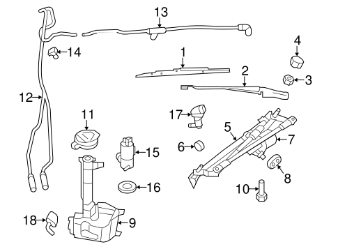 WIPER & WASHER COMPONENTS for 2008 Dodge Avenger