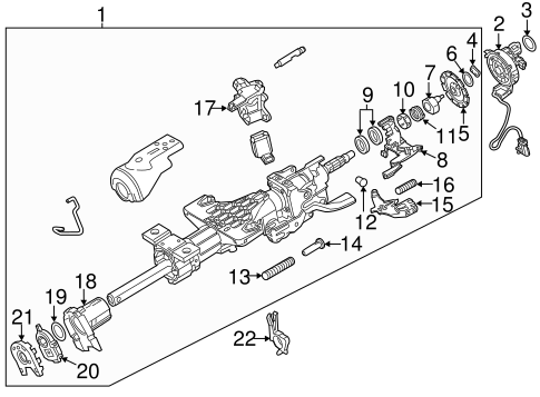 STEERING COLUMN ASSEMBLY for 2015 Chevrolet Silverado 1500