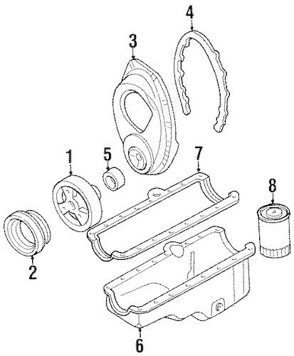 ENGINE PARTS for 1991 Chevrolet K1500 Pickup (Silverado)