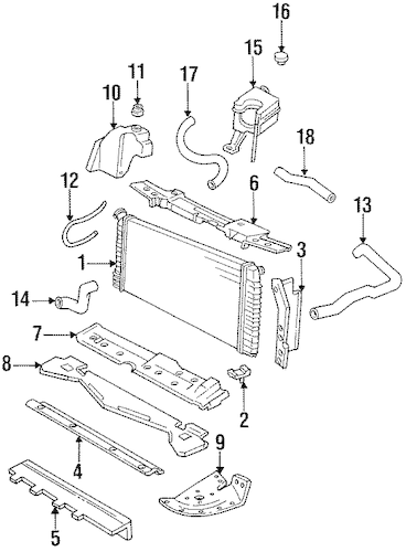 RADIATOR & COMPONENTS for 1999 Cadillac DeVille