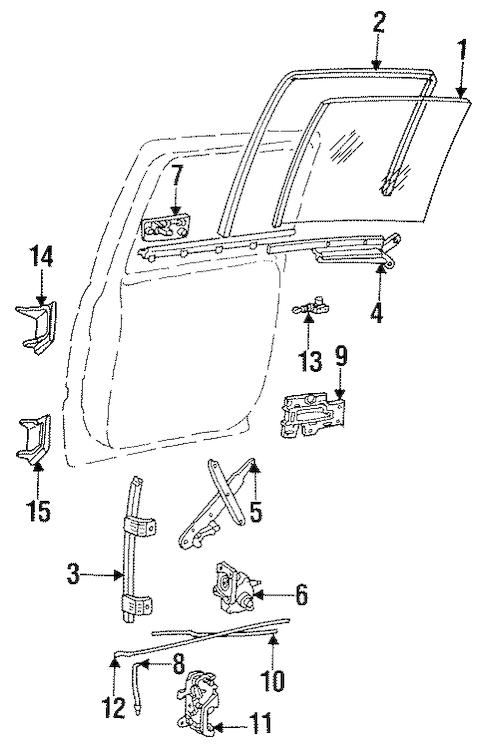 REAR DOOR for 1996 Chevrolet Suburban K1500