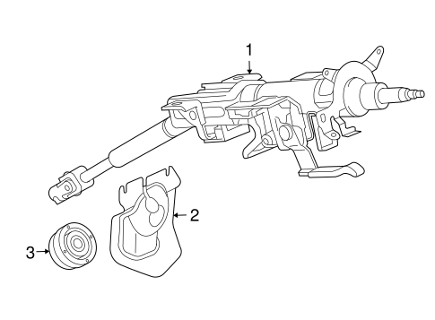 STEERING COLUMN ASSEMBLY for 2009 Mazda 6