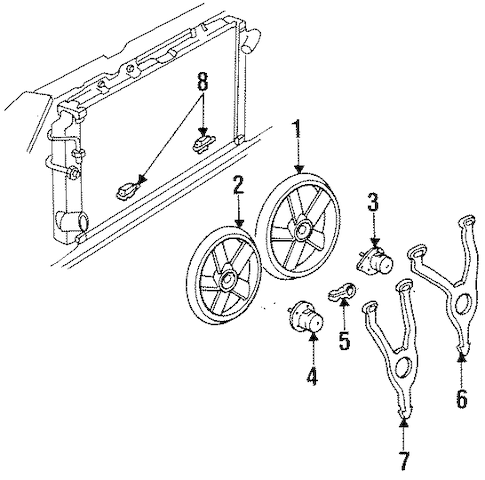 COOLING FAN for 1999 Cadillac DeVille