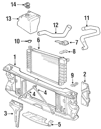 Buick Cadillac Chevy GMC Radiator Coolant Overflow Tank